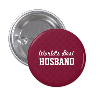 World's Best HUSBAND Appreciation Gift A04 3 Cm Round Badge