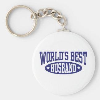 World's Best Husband Basic Round Button Key Ring