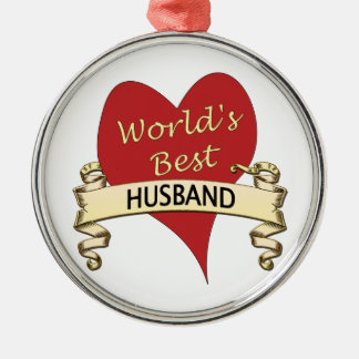 World's Best Husband Christmas Ornament