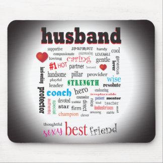 Worlds Best Husband Word Cloud Mouse Mat