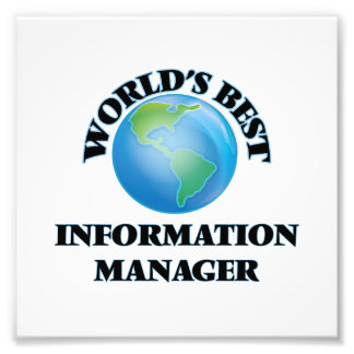 World's Best Information Manager Photo Art