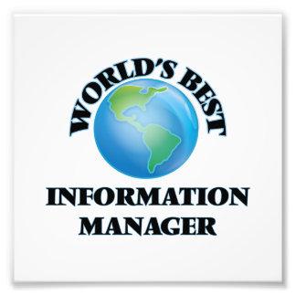 World's Best Information Manager Photo Art