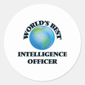 World's Best Intelligence Officer Round Stickers
