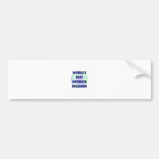 World's Best Interior Designer Bumper Sticker