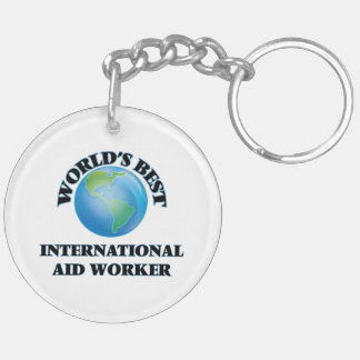 World's Best International Aid Worker Acrylic Keychain