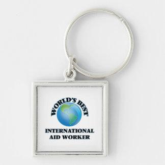 World's Best International Aid Worker Key Chains