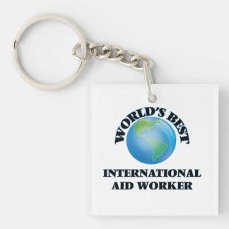 World's Best International Aid Worker Keychain
