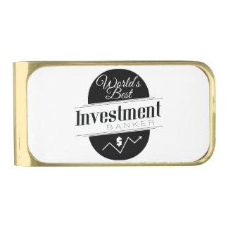World's Best Investment Banker Gold Finish Money Clip