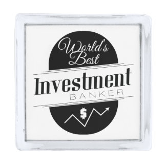World's Best Investment Banker Silver Finish Lapel Pin