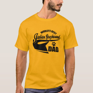World's Best Italian Greyhound dad T-Shirt