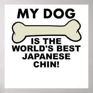 World's Best Japanese Chin Poster