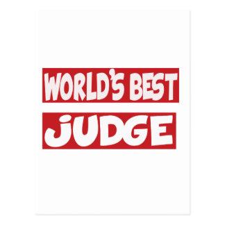 World's Best Judge. Post Card