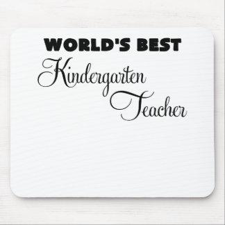 worlds best kindergarten teacher.png mousepads