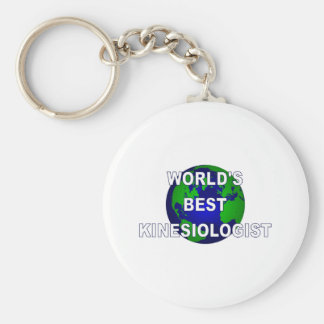 World's Best Kinesiologist Basic Round Button Key Ring