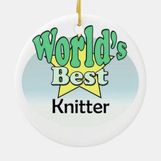 World's best Knitter Christmas Ornament