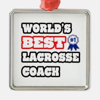 World's Best Lacrosse Coach Christmas Ornament