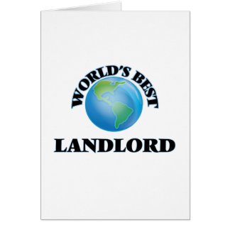 World's Best Landlord Card