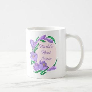 World's Best Lavender Floral Border - customizable Coffee Mug