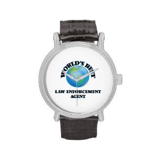 World's Best Law Enforcement Agent Wrist Watch