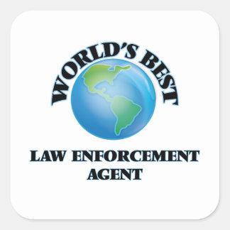 World's Best Law Enforcement Agent Square Sticker