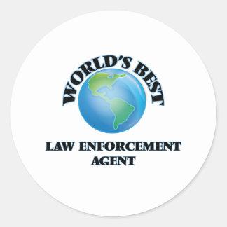 World's Best Law Enforcement Agent Sticker