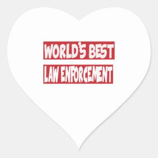 World's Best law enforcement. Sticker
