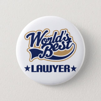Worlds Best Lawyer 6 Cm Round Badge