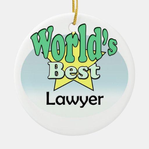 World's best Lawyer Kerst Ornament