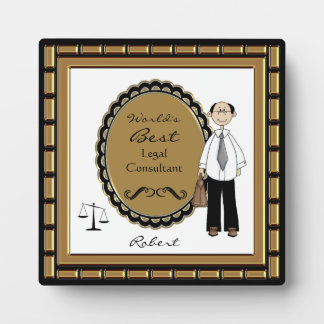 World's Best Lawyer Male Plaque