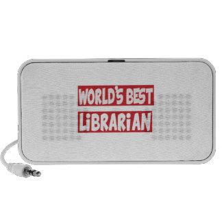 World's Best Librarian. Notebook Speakers