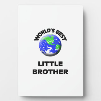 World's Best Little Brother Photo Plaques