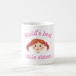 Worlds best little sister - red haired girl coffee mug