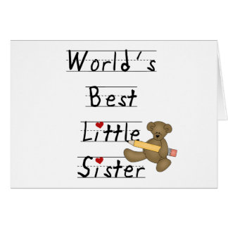 World's Best Little Sister Tshirts and Gifts Greeting Card
