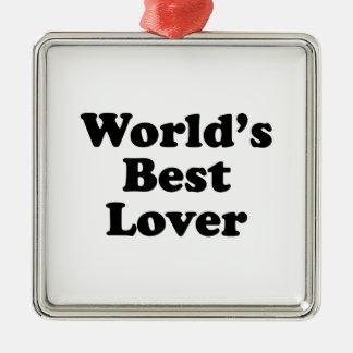World's Best Lover Christmas Ornament