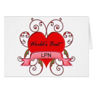 World's Best LPN Greeting Card