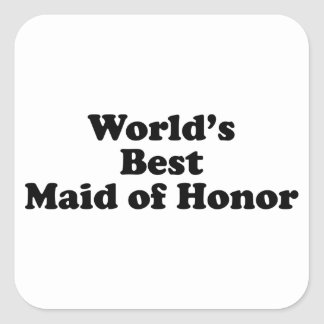 World's Best Maid of Honor Square Stickers