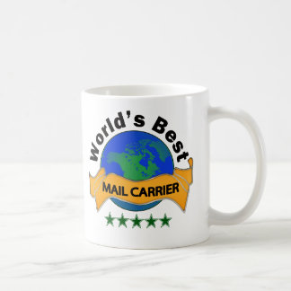 World's Best Mail Carrier Basic White Mug