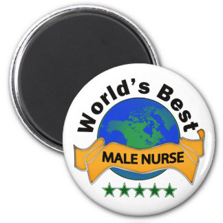 World's Best Male Nurse 6 Cm Round Magnet