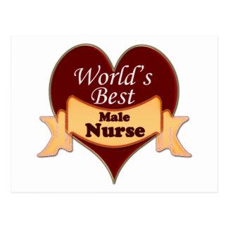 World's Best Male Nurse Postcards