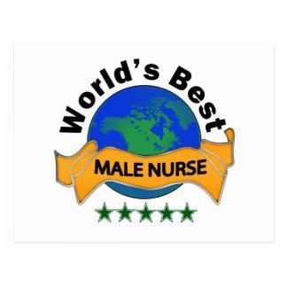 World's Best Male Nurse Postcard