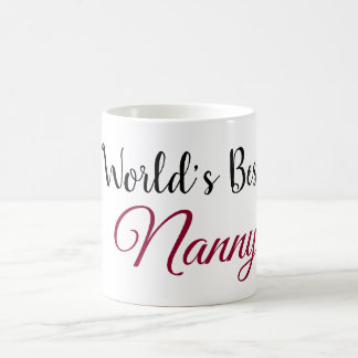 World's Best Mama, Nanny, Nini, Grandma Coffee Mug