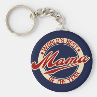 World's Best Mama of the Year Key Ring