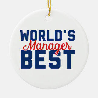 World's Best Manager Christmas Ornament