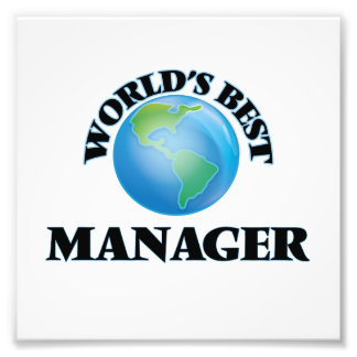 World's Best Manager Photo Print