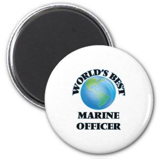 World's Best Marine Officer 6 Cm Round Magnet