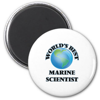 World's Best Marine Scientist Fridge Magnet