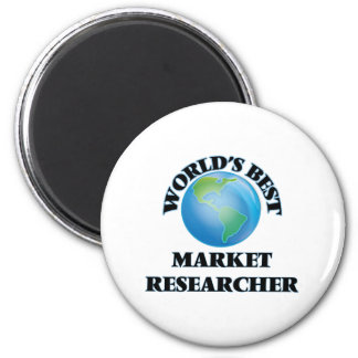 World's Best Market Researcher 6 Cm Round Magnet