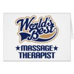 Worlds Best Massage Therapist Greeting Cards