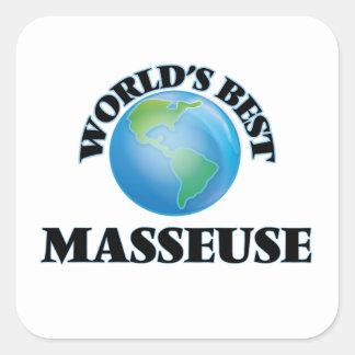 World's Best Masseuse Square Sticker