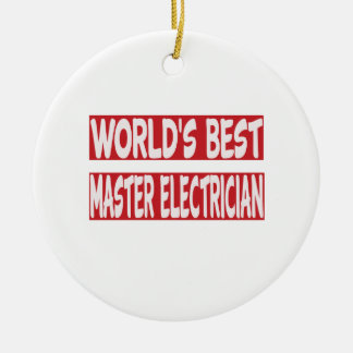 World's Best Master Electrician. Christmas Ornament